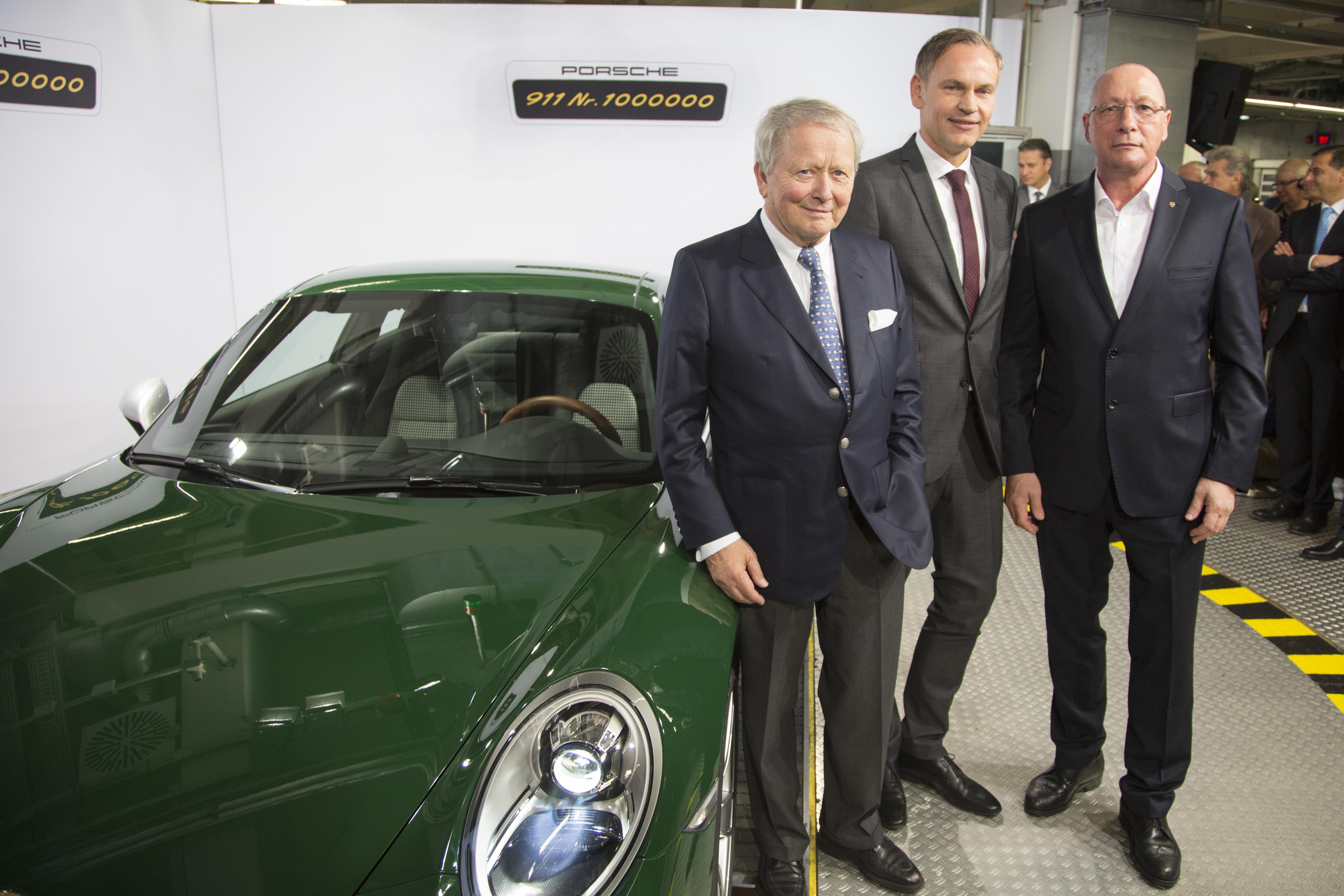 Produktionsjubilaum Der Einmillionste 911 Rollt Vom Band Dr Ing